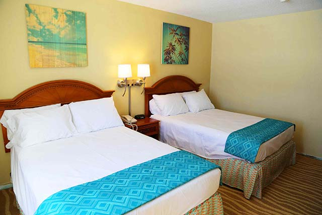 Comfortable accommodations can be found for the whole family at the Plim Plaza Hotel