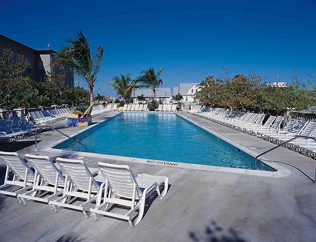Relax poolside by our Olympic-size swimming pool