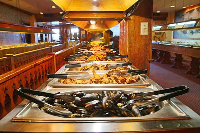 Paul Revere Smorgasbord offeres a family friendly buffet that offers plenty for everyone to enjoy and is priced just right