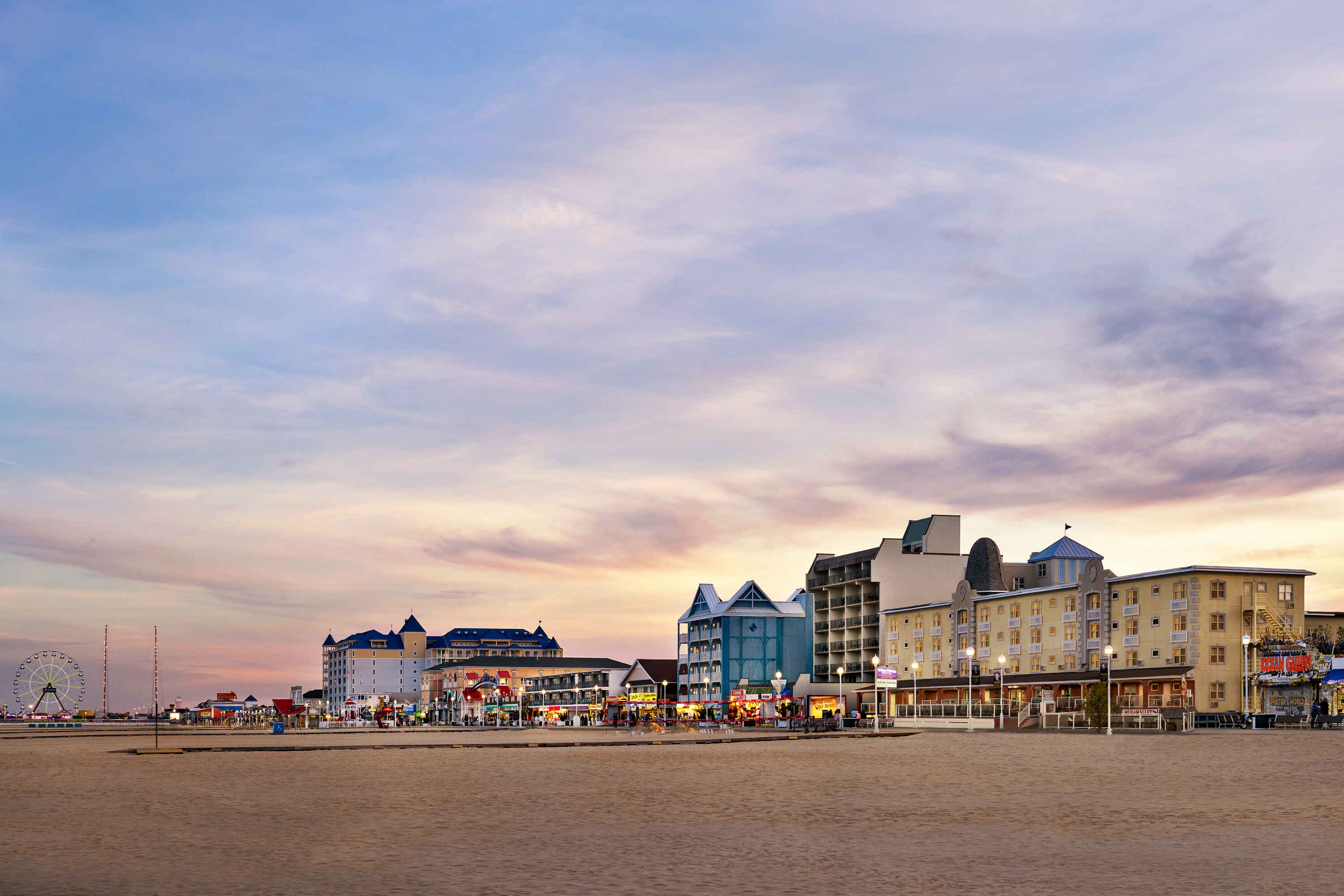 A variety of nearby Ocean City MD attractions await you, including restaurants and amusement rides, all within walking distance.